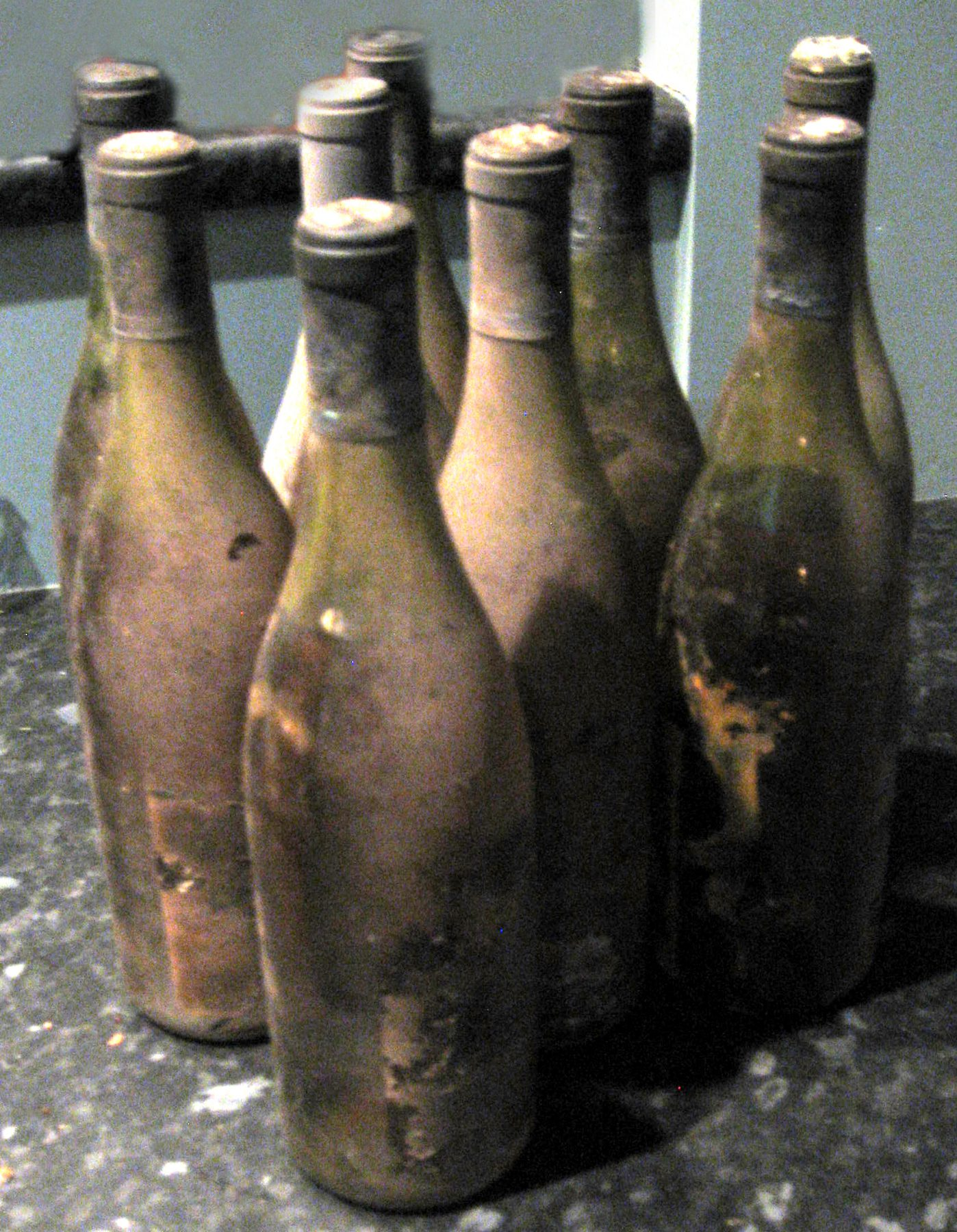 aged bottles from my wine cellar